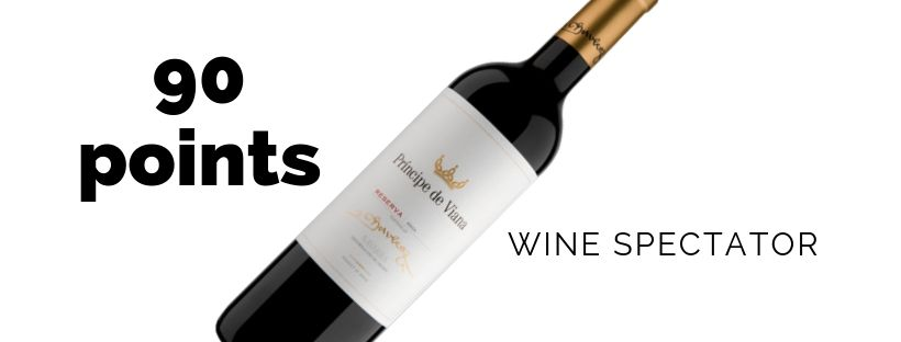 Príncipe de Viana Reserva 2014 90 points Wine Spectator