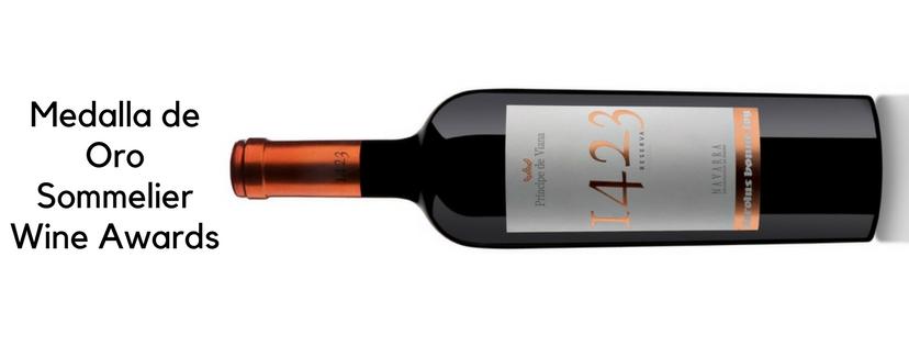 Príncipe de Viana 1423 Reserva 2013, Medalla de Oro Sommelier Wine Awards