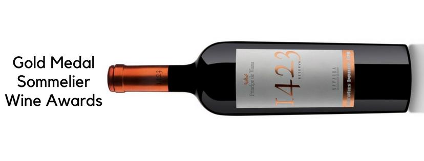 Príncipe de Viana 1423 Reserva 2013, Gold Medal Sommelier Wine Awards