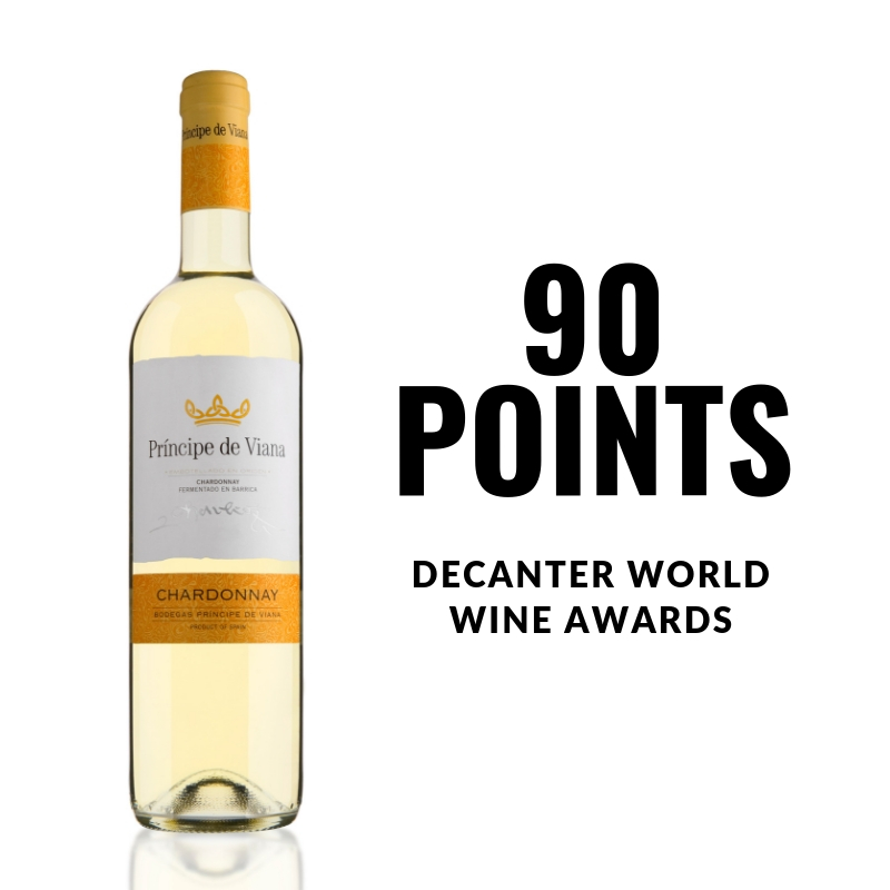 Príncipe de Viana  Chardonnay  90 POINTS  DECANTER WORLD  WINE AWARDS