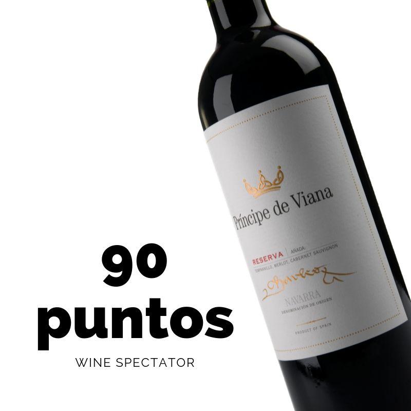 Príncipe de Viana Reserva 2014 90 puntos Wine Spectator