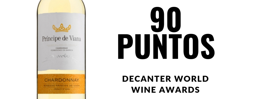 Príncipe de Viana  Chardonnay  90 PUNTOS  DECANTER WORLD  WINE AWARDS