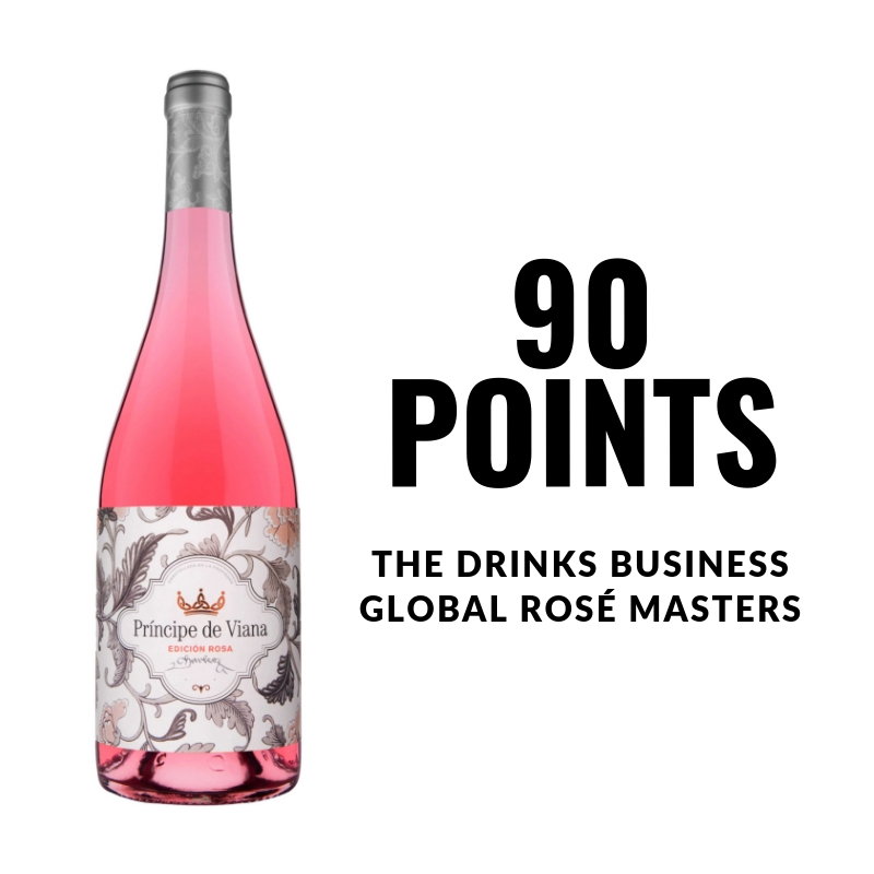 Príncipe de Viana  Edición Rosa 2017  90 points  THE DRINKS BUSINESS'  GLOBAL ROSÉ MASTERS