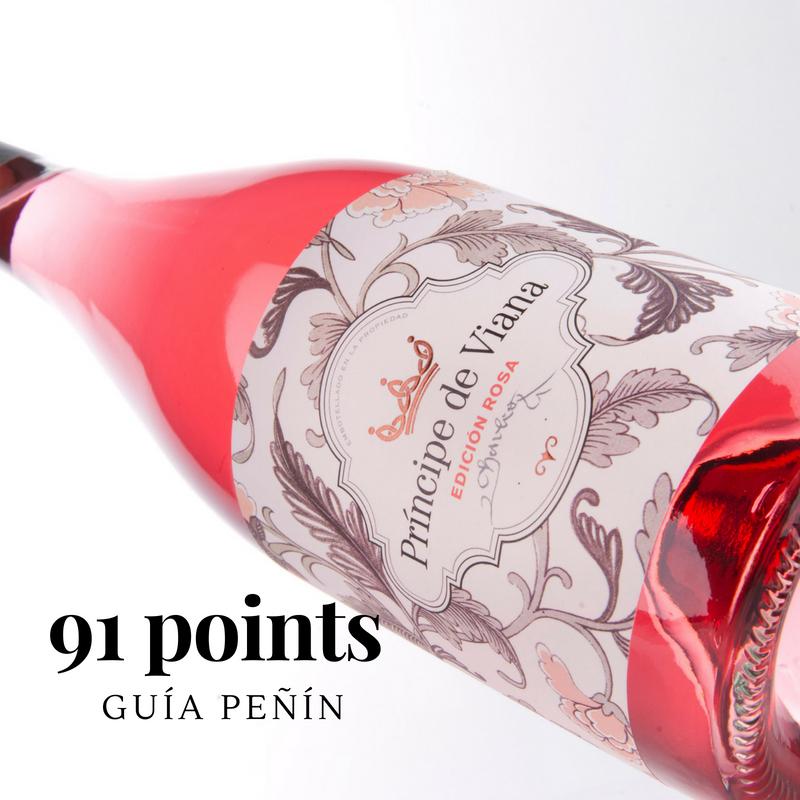 Príncipe de Viana  Edición Rosa 2017, 91 points Guía Peñín 2019