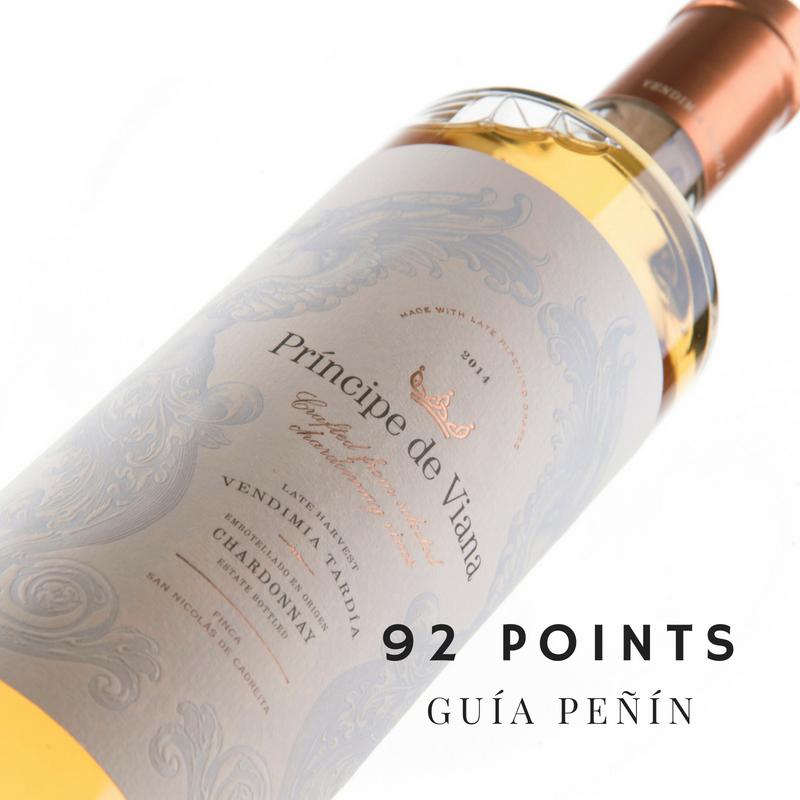 Príncipe de Viana Vendimia Tardía 2014, 92 points Guía Peñín 2019