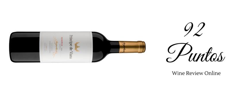 Príncipe de Viana Reserva 92 puntos Wine Review Online
