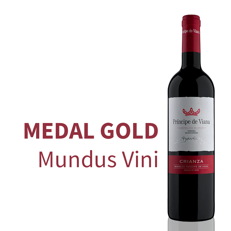 Príncipe de Viana Crianza 2016, Gold Medal Mundus Vini