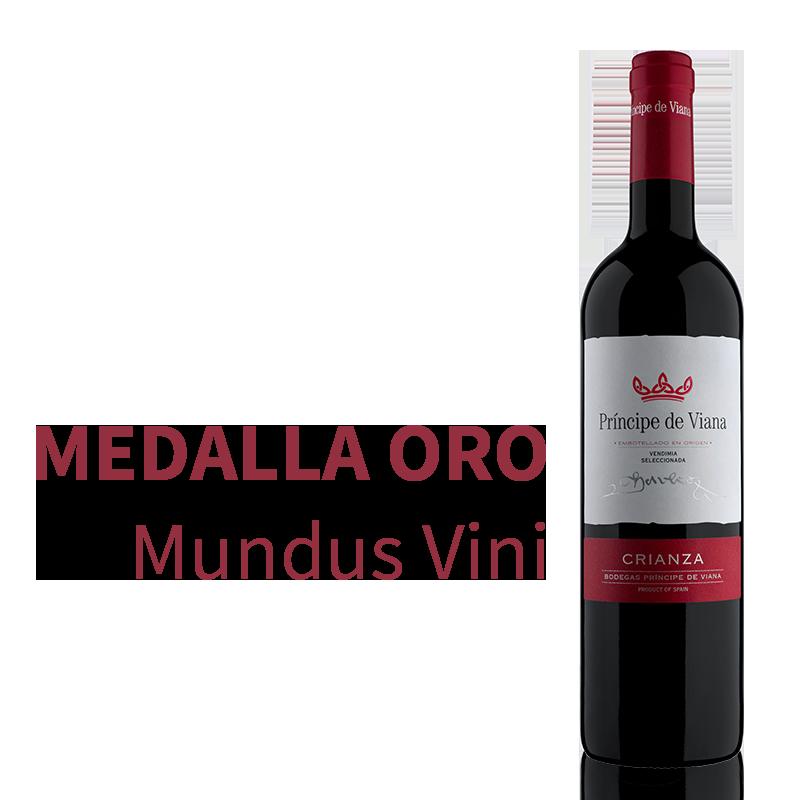 Príncipe de Viana Crianza 2016, Medalla de Oro Mundus Vini