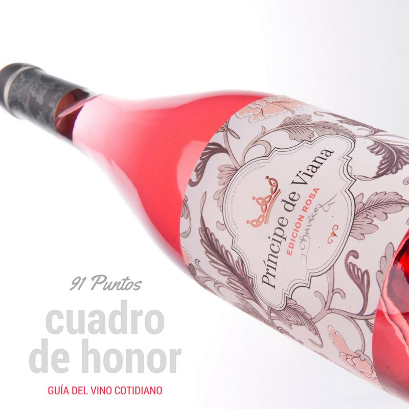 Príncipe de Viana Edición Rosa 91 puntos y Cuadro de Honor Guía del Vino Cotidiano