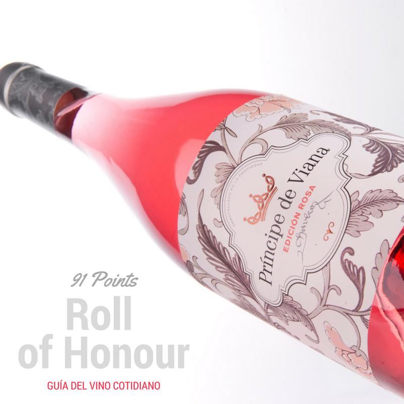 Príncipe de viana Edición Rosa 91 points Roll of Honour Guía del Vino Cotidiano