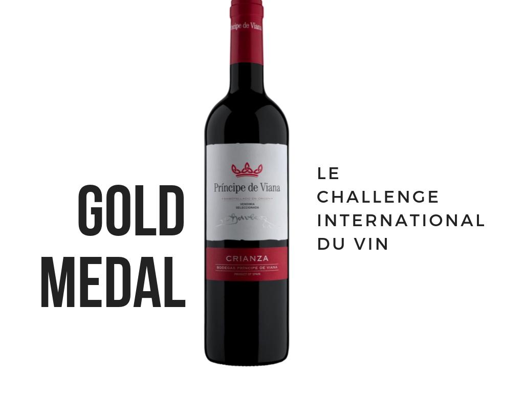 Príncipe de Viana Crianza 2015 Gold Medal Challenge International du Vin