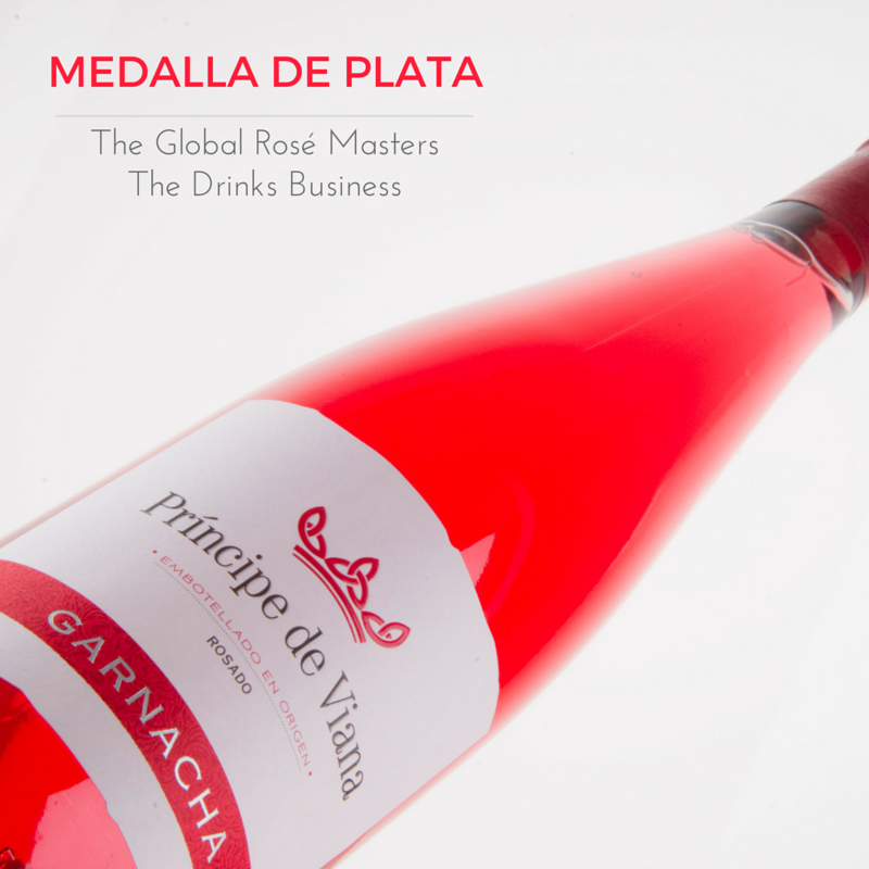 "Príncipe de Viana Rosado Garnacha Medalla de Plata ""The Global Rosé Masters"" The Drinks Business"