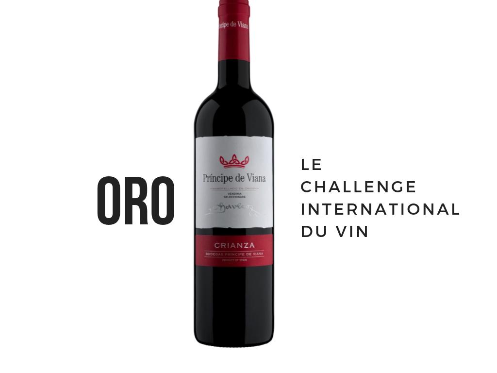 Príncipe de Viana Crianza 2015 Medalla de Oro Challenge International du Vin
