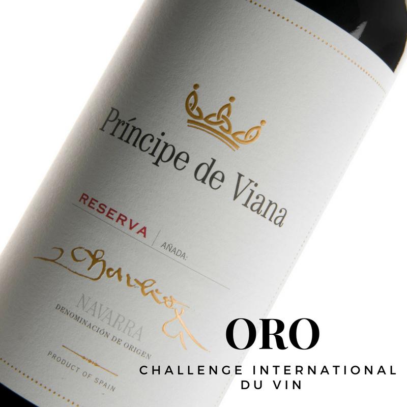 Príncipe de Viana Reserva 2013, Medalla de Oro Challenge International du Vin