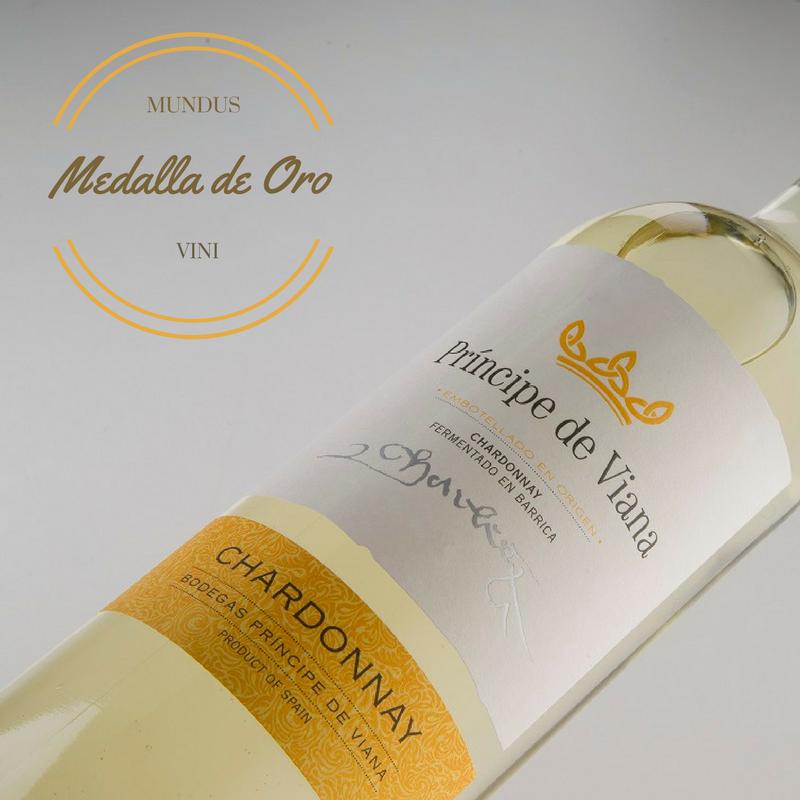 Príncipe de Viana Chardonnay Medalla de Oro Mundus Vini