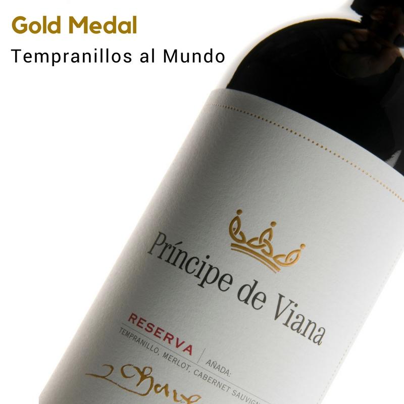Príncipe de Viana Reserva 2013, Gold Medal Tempranillos al Mundo Wine Contest