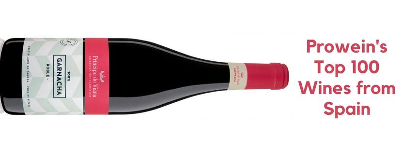 Príncipe de Viana Garnacha Roble 2016, Prowein's Top 100 Wines from Spain