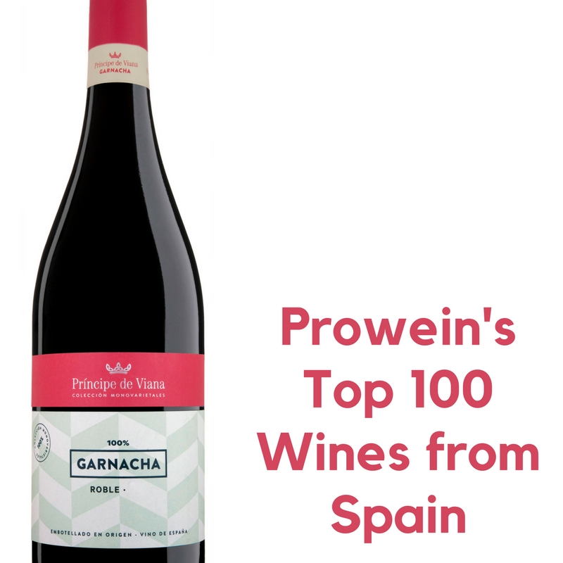 Príncipe de Viana Garnacha Roble 2016, Prowein's Top 100 Wines from Spain