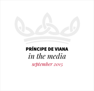 Príncipe de Viana in the media / September 2015