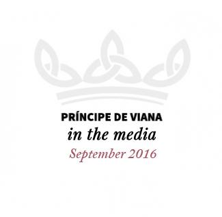 Príncipe de Viana in the media/ September 2016