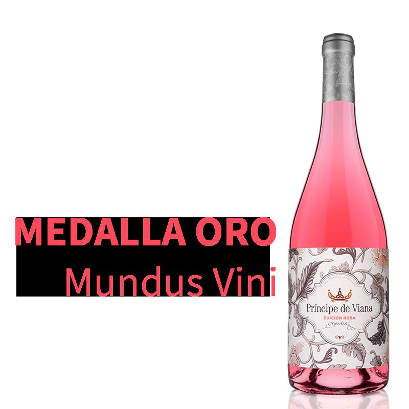Príncipe de Viana Edición Rosa 2019 recibe Medalla de Oro Mundus Vini