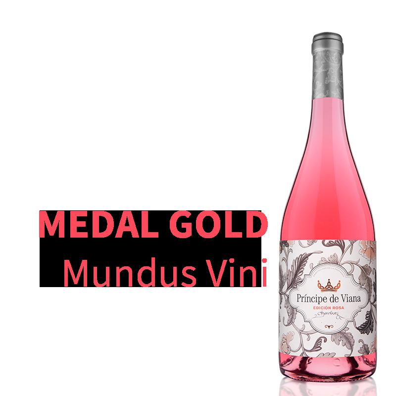 Príncipe de Viana Edición Rosa 2019 Gold Medal Mundus Vini