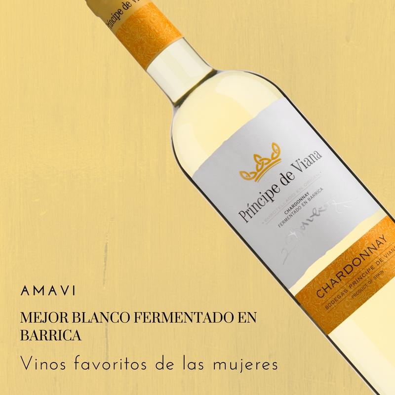 Príncipe de Viana Chardonnay, mejor blanco fermentado en barrica AMAVI