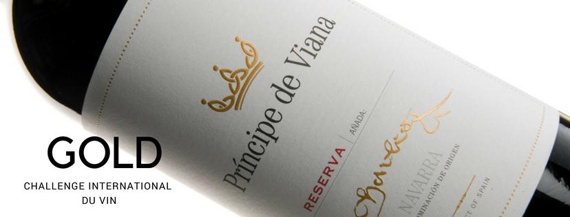 Príncipe de Viana  Reserva 2013, Gold Medal Challenge International du Vin