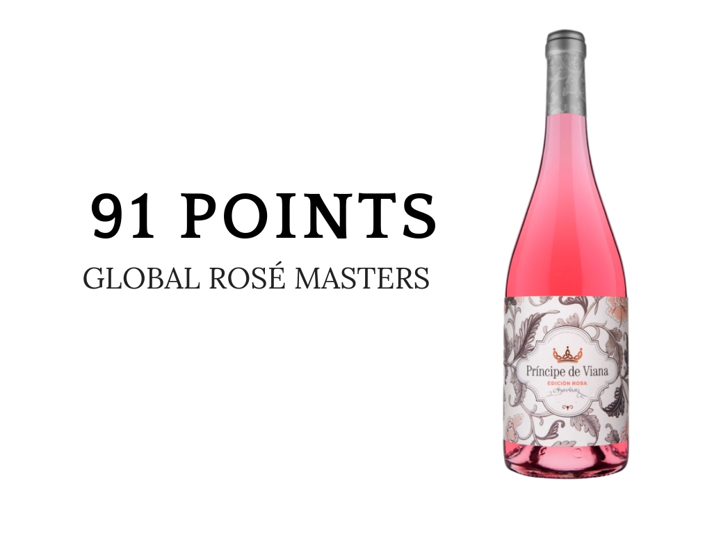 Príncipe de Viana Edición Rosa 2018 91 points THE DRINKS BUSINESS GLOBAL ROSÉ MASTERS