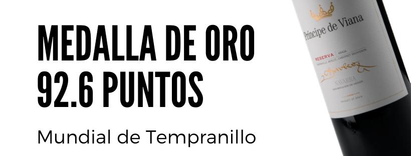 Príncipe de Viana Reserva 2014 92,6 puntos + ORO Concurso Mundial de Tempranillo