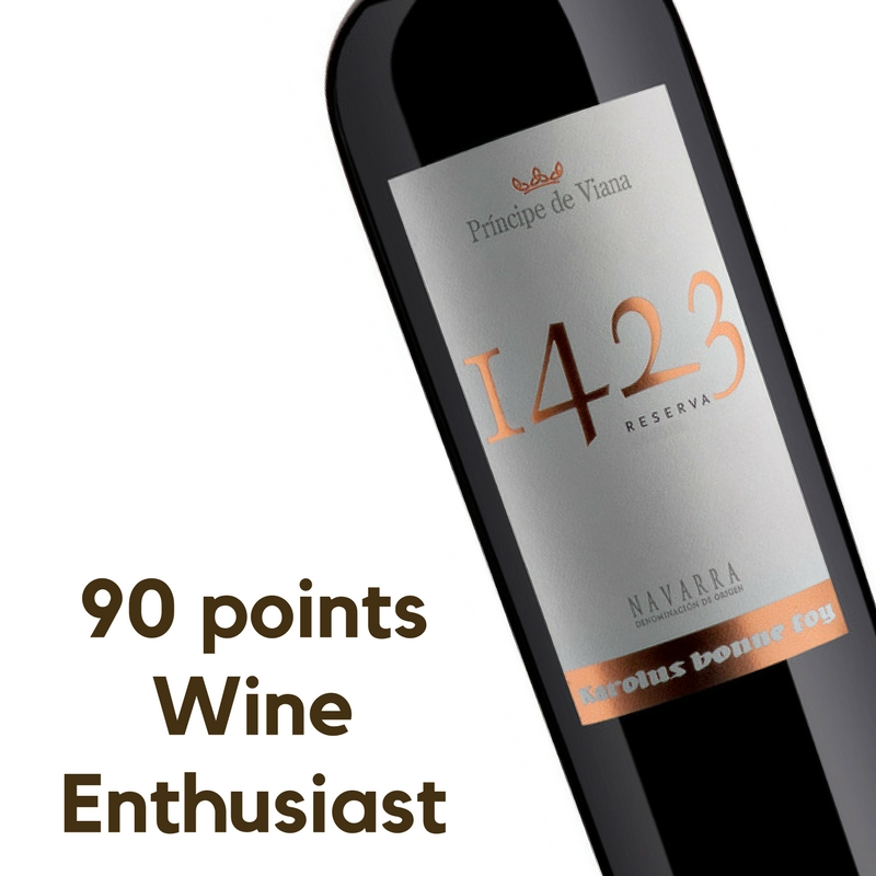 Príncipe de Viana 1423 Reserva 2013, 90 points Wine Enthusiast