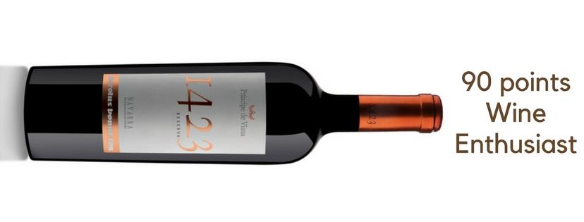 Príncipe de Viana 1423 Reserva 2013, 90 points Wine Enthusiast