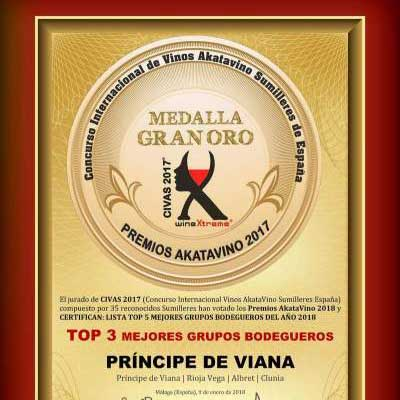 Grupo Príncipe  de Viana Top 3 of Spain's Winemaking Groups